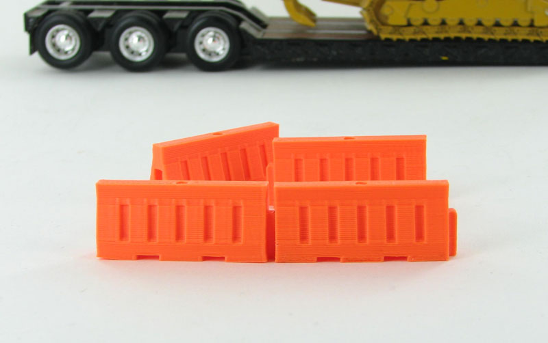 50-102-OR - 3d To Scale Plastic Safety Barriers water filled style