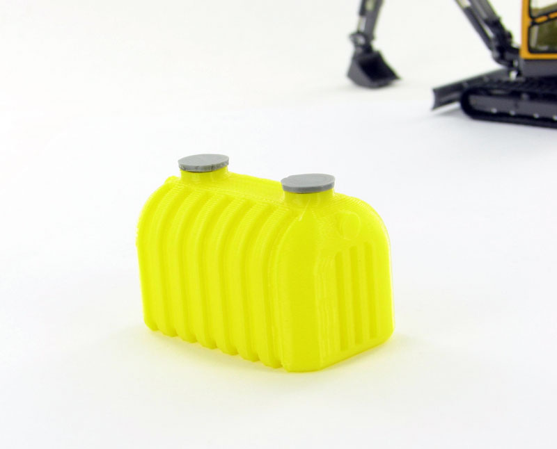 50-145-Y - 3d To Scale Septic Tank yellow ABS