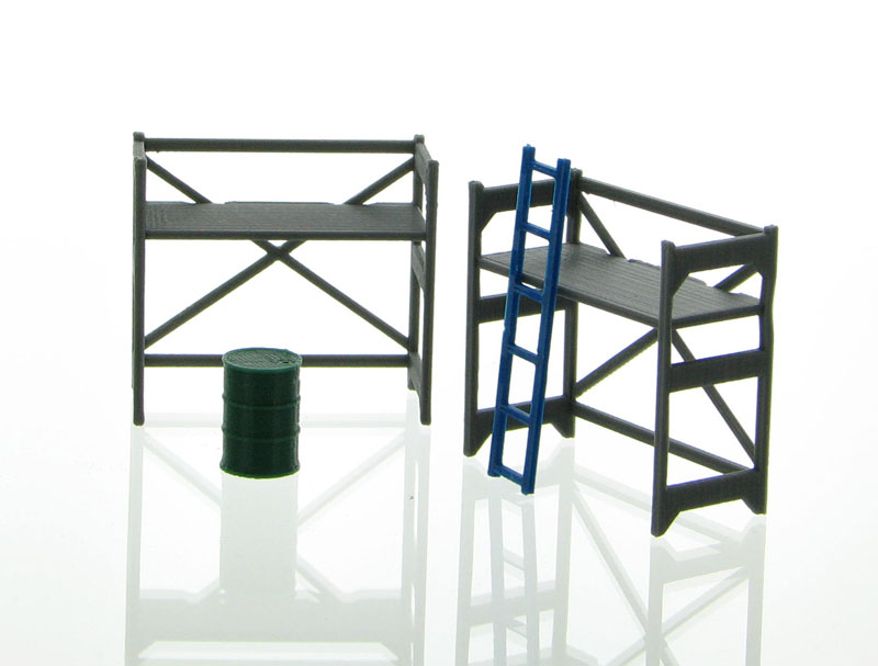 50-150-GY - 3d To Scale Scaffolding Set Grey