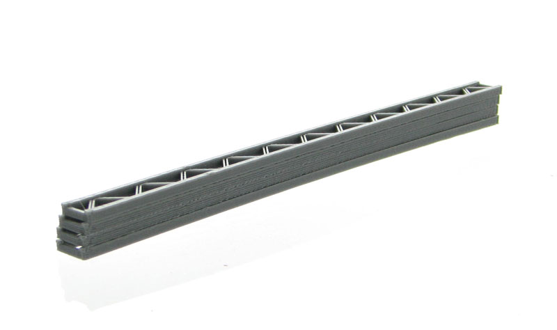 50-155-GY - 3d To Scale Construction Girders 4 pack grey approximately