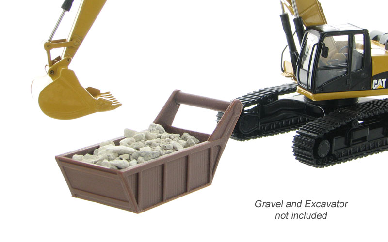 50-160-BN - 3d To Scale Gravel _ Bedding Box Brown _