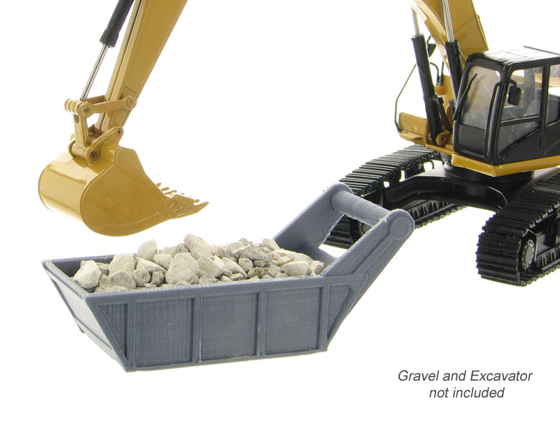 50-160-GY - 3d To Scale Gravel _ Bedding Box Grey ABS