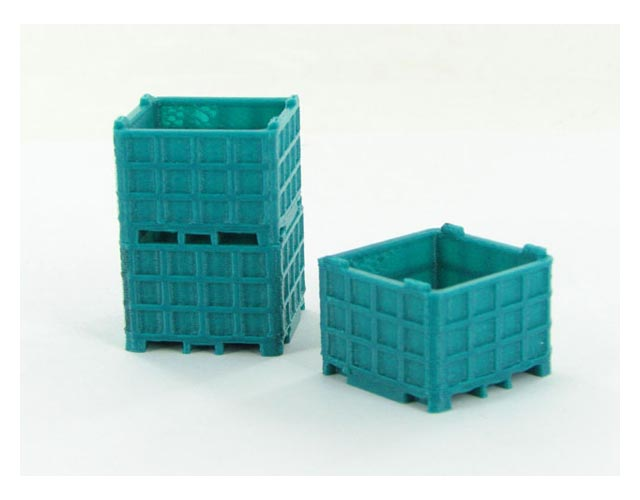 64-252-BG - 3d To Scale Plastic Bin Pallet Bluegreen 3 Pack