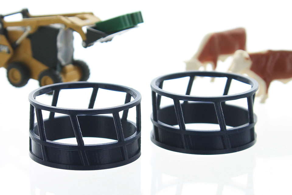 64-300-BL - 3d To Scale Hay Feeder 2 pack blue ABS