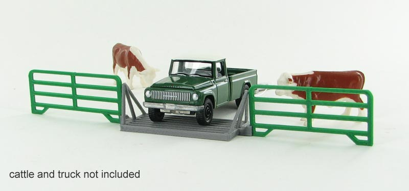64-312-GR - 3d To Scale Cattle Guard crossing