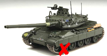 0029-X - Altaya AMX 30 Tank A WHEEL IS BROKEN