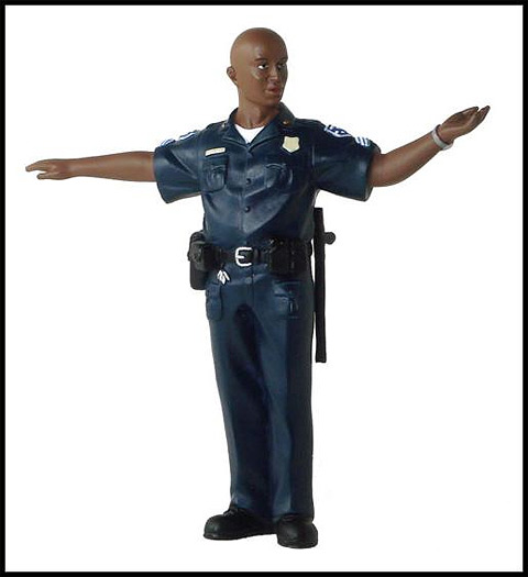 AD-51596 - American Diorama Mike Policeman Packaged