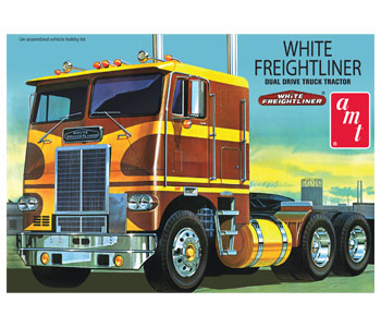 620 - AMT White Freightliner Dual Drive Tractor