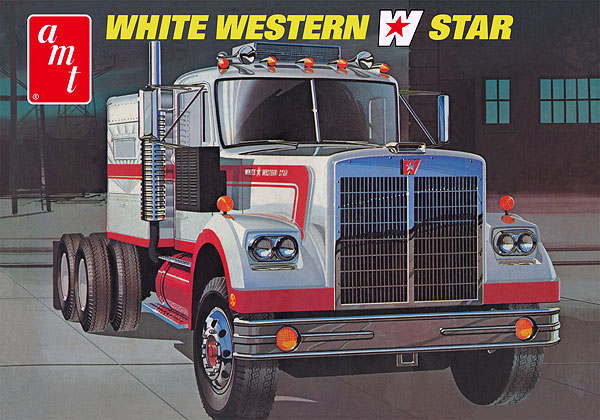 724 - AMT White Western Star Semi Tractor