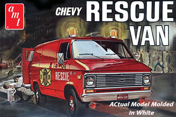 812 - AMT Fire Department 1975 Chevy Rescue Van