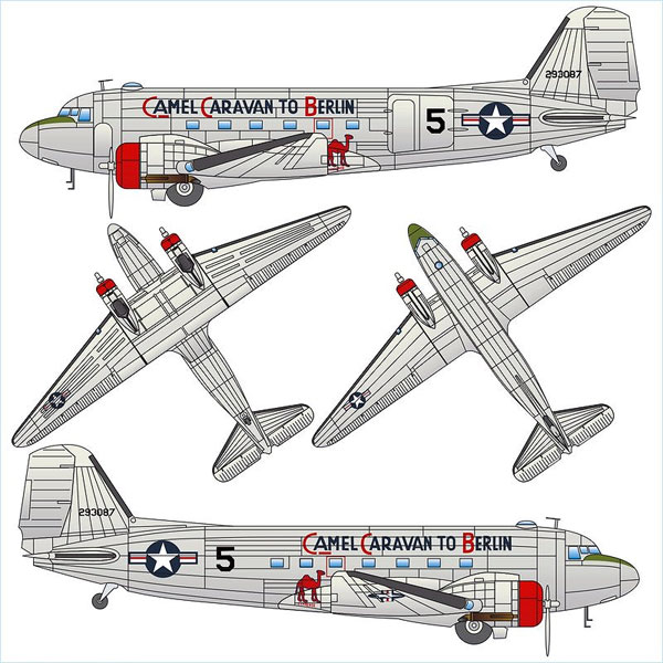 770171 - Arsenal-m C 47 Transport Plane Candy Bomber