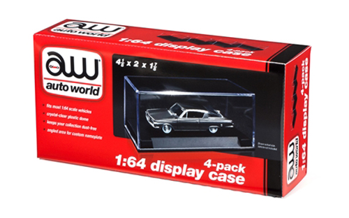 AWDC005 - Auto World Plastic Display Cases 4 Pack