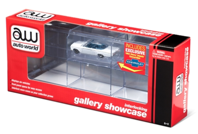 AWDC014 - Auto World Six Car Interlocking Acrylic Display Case