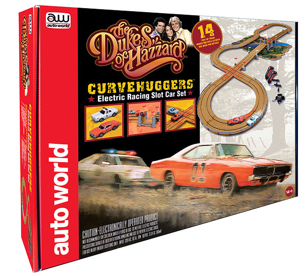 SRS259 - Auto World Dukes of Hazzard Curvehuggers Slot Car