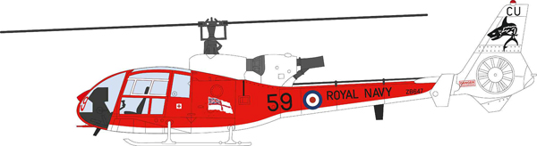 24003 - Aviation 72 Westland Gazelle ZB647 59 Royal Navy