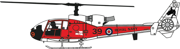24009 - Aviation 72 Westland Gazelle Royal Navy XX436