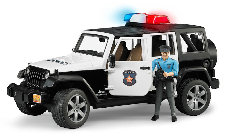 02526 - Bruder Jeep Rubicon Police Car