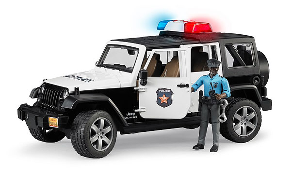 02527 - Bruder Jeep Rubicon Police Car