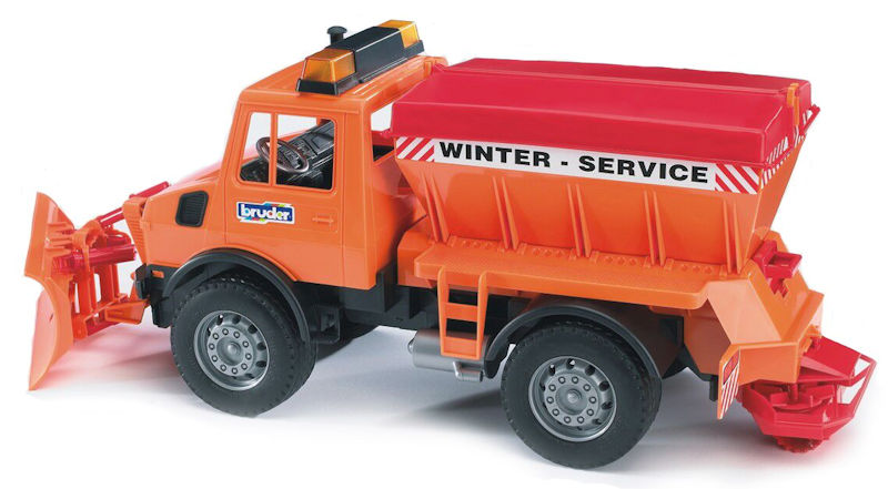 02572 - Bruder Toys Snowplow This toy has incredible play value