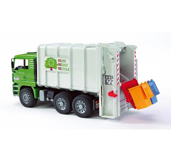 02764 - Bruder MAN TGA Rear Loading Garbage Truck