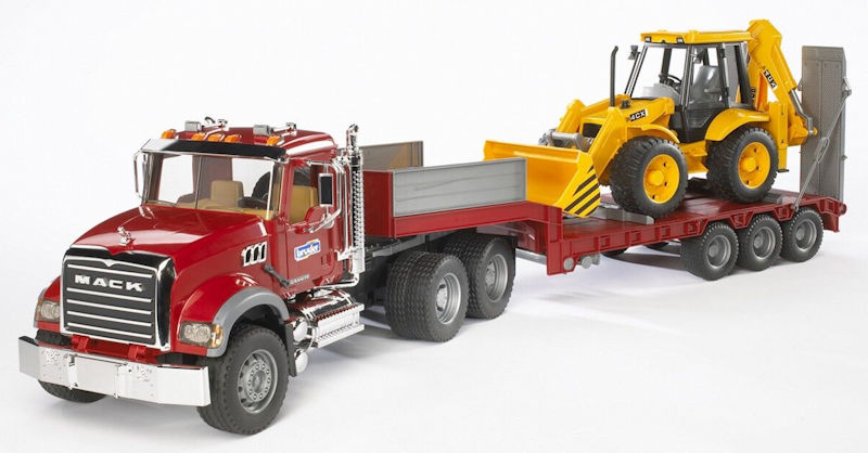 Large Toy Trucks For Boys : Bruder toys mack granite flatbed truck