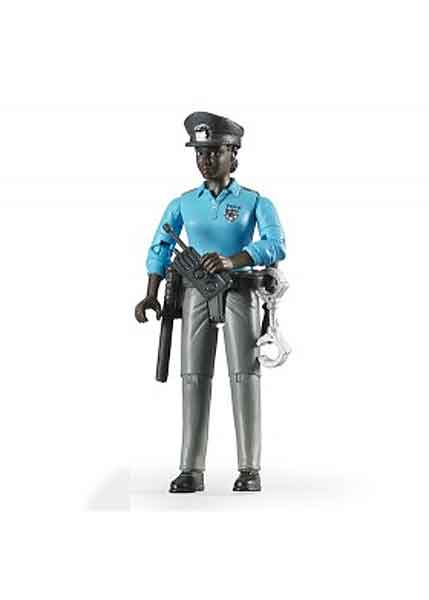 60431 - Bruder Policewoman with Dark Skin and Accessories