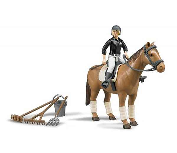 62505 - Bruder Women with Horse and Riding Accessories