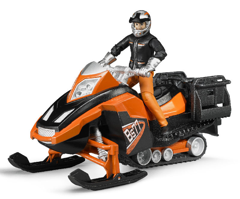 63101 - Bruder Snowmobile with Driver and Accessories Manufactured