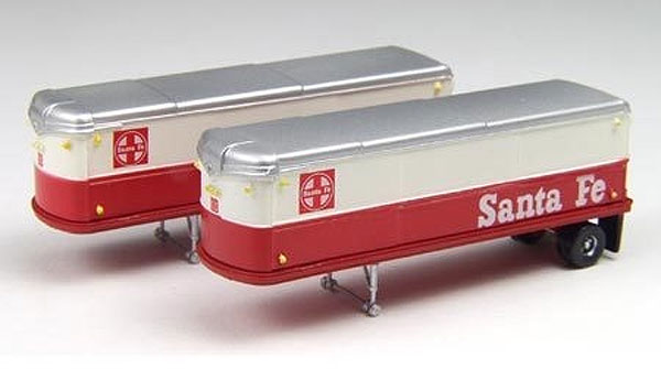 51117 - CMW Santa Fe 32 Aerovan Trailers Set of