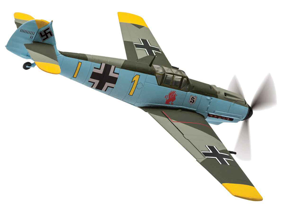 AA28004 - Corgi Messerschmitt Bf 109E 4 Yellow 1
