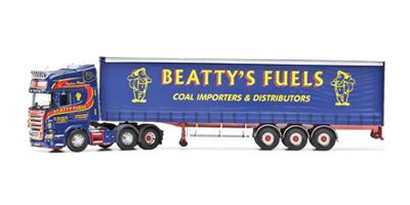 CC13755 - Corgi Scania R Curtainside Beattys Fuels Ballinamallard