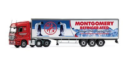 CC13826 - Corgi Mercedes Actros Face lift Fridge Trailer