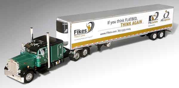 32616-X - Die-Cast Promotions DCP Fikes Trucking FTLCustom Peterbilt Model 379