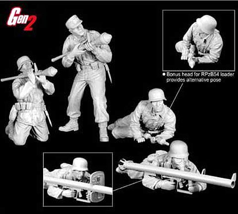 6279 - Dragon Eastern Front Tank Hunters 4 figure