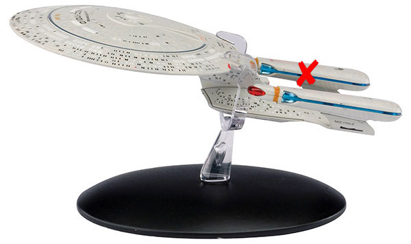 ST01-X - Eaglemoss Star Trek USS Enterprise NCC 1701