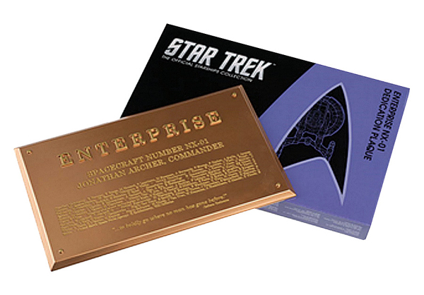 STPLAQUE5 - Eaglemoss Star Trek USS Enterprise NX 01