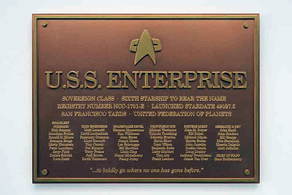 STPLAQUE6 - Eaglemoss Star Trek USS Enterprise NCC 1701 E