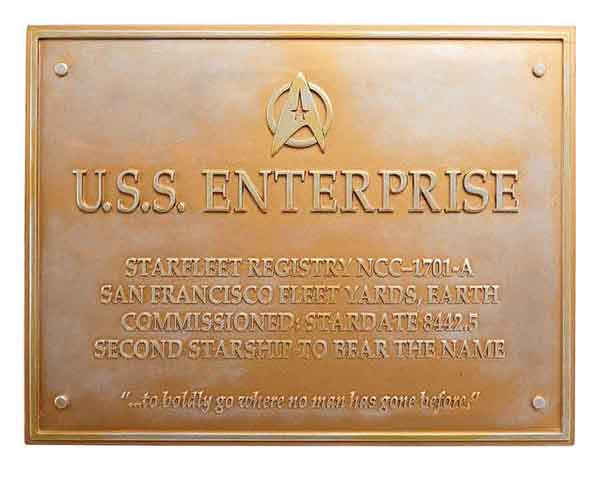 STPLAQUE7 - Eaglemoss Star Trek USS Enterprise NCC 1701