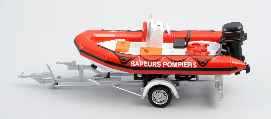 120057 - Eligor Firefighter and Rescue ZODIAK inflatable boat