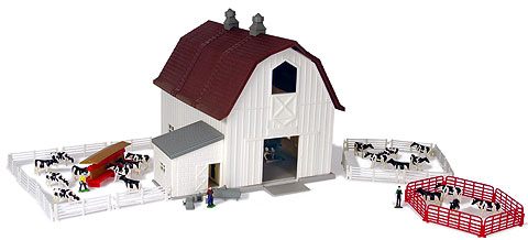 12279-X - ERTL Farm Country Dairy Farm Playset Over