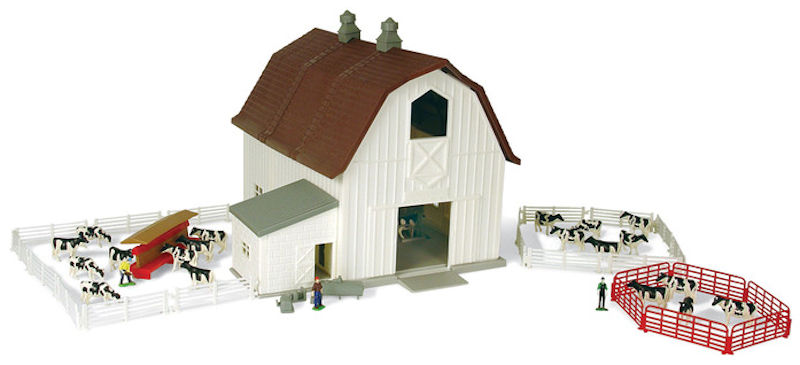 12279 - ERTL Farm Country Dairy Farm Playset Over