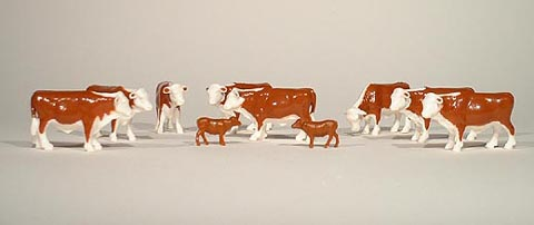 12660-25 - ERTL Toys Cattle Herefords Bag of 25 20 adults