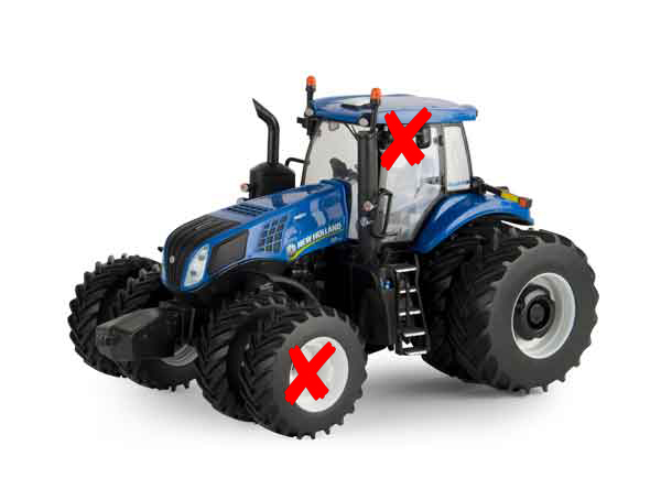 13860-X - ERTL Toys New Holland T8435 Tractor Prestige Series