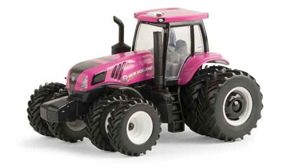 13890 - ERTL Toys New Holland T8410 Pink Tractor