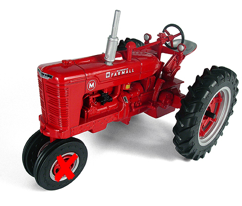 14524-X - ERTL Toys Farmall M Tractor ONE HUBCAP IS