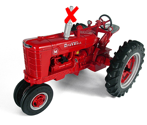 14524-X1 - ERTL Toys Farmall Model M Tractor SMOKESTACK IS