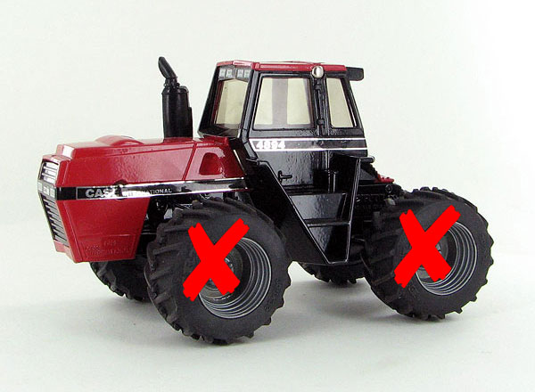 222UA-X - ERTL Toys Case IH 4894 4WD Tractor TIRES