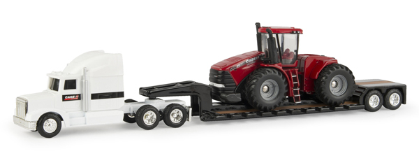 44082 - ERTL Toys Case IH Semi wth Lowboy and Steiger