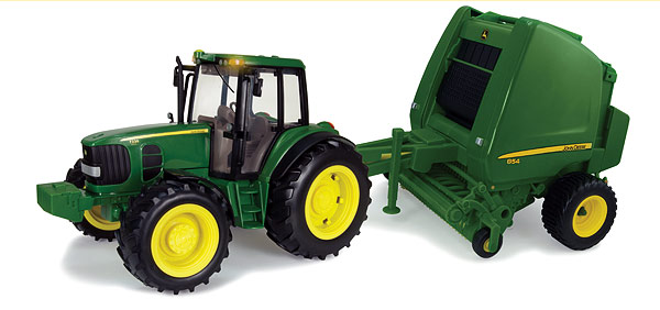 46180 - ERTL Toys John Deere 7330 Tractor and 854