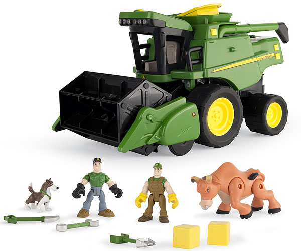 46334 - ERTL Toys John Deere Gear Force Harvest Action